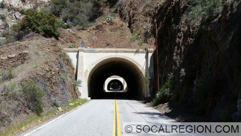 Tunnels 2 and 3 in Wheeler Gorge on State 33 near Ojai, CA.