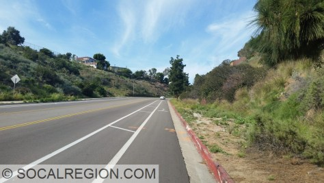 Ulric St about 2/3 to the top of the grade above Mission Valley.