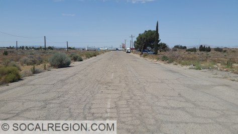 Original alignment, known as Outpost Road, at the US 395 and US 66/91 junction