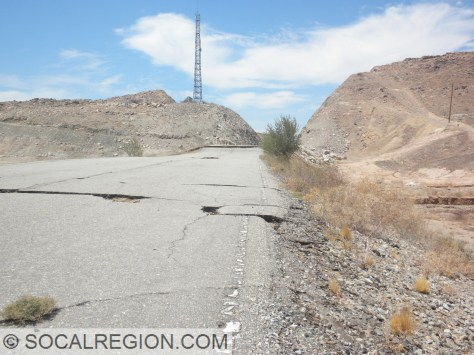 Old alignment of Hwy 2, now offset by about 2 feet horizontally and 5 feet vertically.