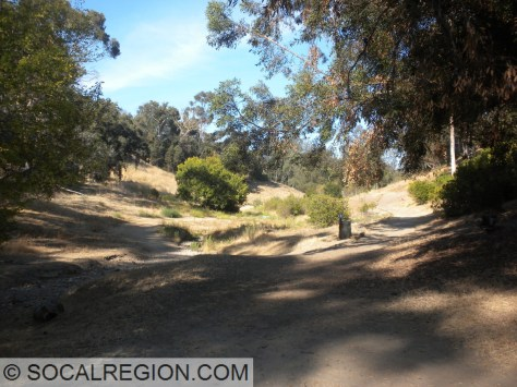 All the trails meet near the freeway. Southern trail is a short section of singletrack.