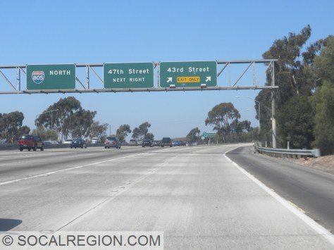 At 43rd Street, the 252 Freeway was to connect to I-5 at the 15.