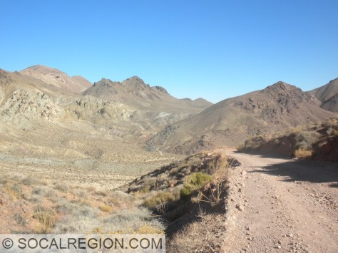 Looking back, after the switchbacks and the 800' drop and climb.