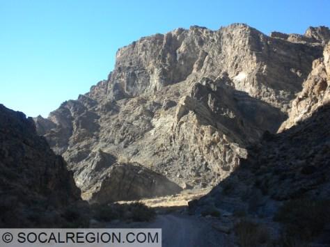 Finally entering Titus Canyon.