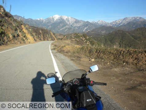 On Glendora Ridge Road with Mt San Antonio in the distance