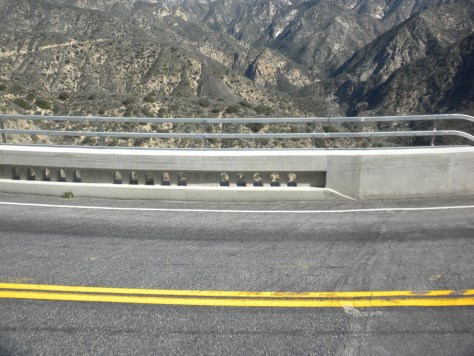 New railing installed at the Slide Canyon bridge (53-63) replacing the 1920's railing.