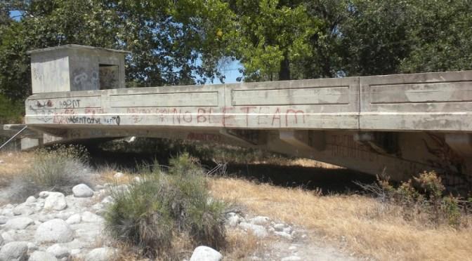 Mystery bridge over the San Jacinto River