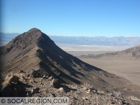 View westerly of the highest butte. Stovepipe Wells is in the background.