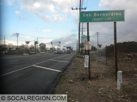 State 66 at the LA/San Bernardino County line.