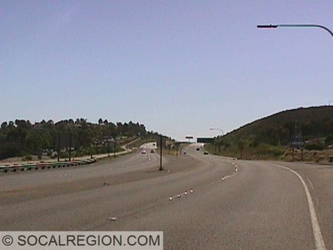 Looking west along the 56 from the 15.