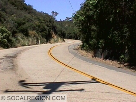 Old Mussey Grade Road with 1920's concrete paving.