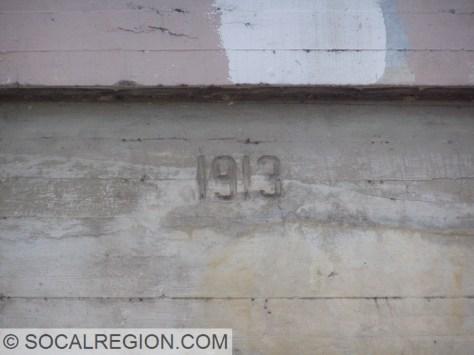 1913 date stamp on the Cucamonga Creek Bridge