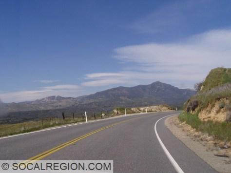 Looking north in Warner Springs Valley toward Hot Springs Mountain - Highest in San Diego County.