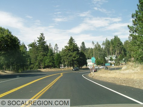 Junction with State 173 to Lake Arrowhead.