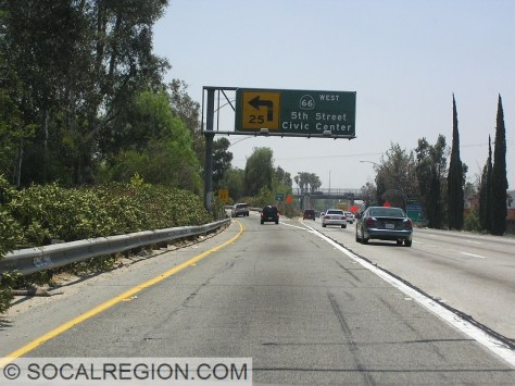 Old southbound 215 exit for 66.