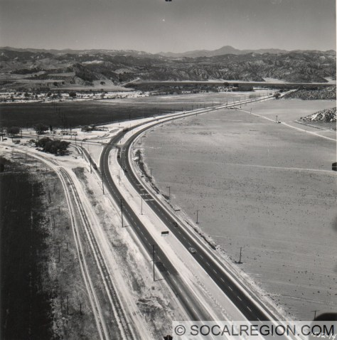 Castaic Junction in 1948 just after widening. Photo Courtesy - Caltrans