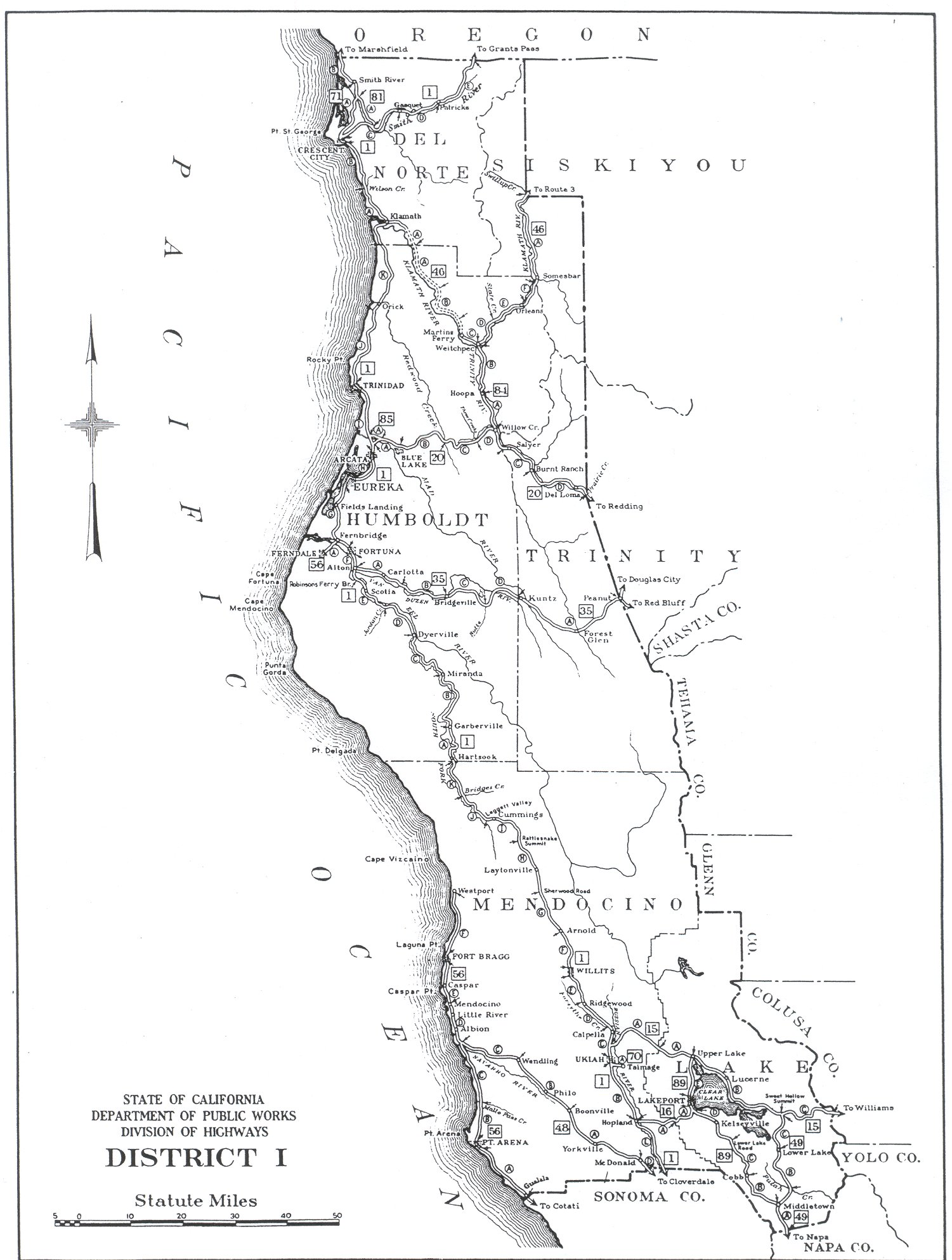 California Division Of Highways District Maps Caltrans - Map of california highways