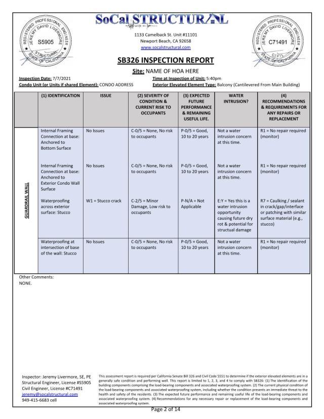 SB326 Inspection