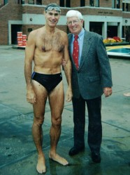 Peter Daland with swimmer Paul Jeffers