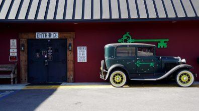 Woodland Hills Exterior - Bullet Hole Classic Car