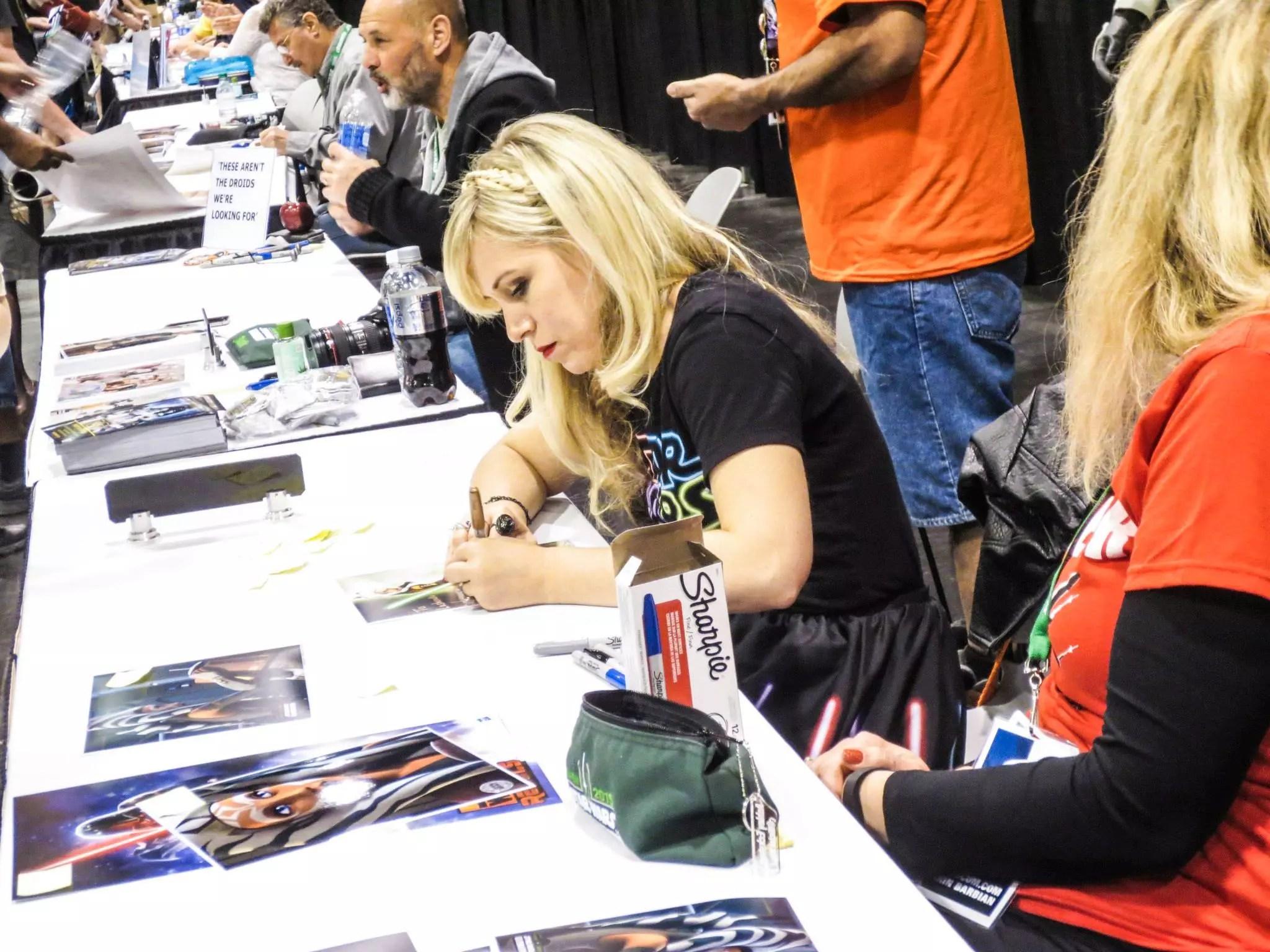 Clone Wars Star and Her Universe Founder, Ashley Eckstein, signing and greeting fans.