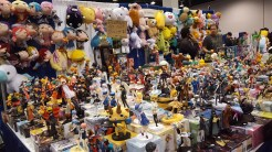 Colorful plush and countless Anime figures.