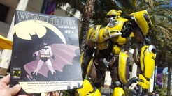 Bumblebee stands guard over security details.