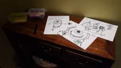 Drawings of monsters