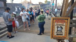 Lack of social distancing in the queue for the Wilderness Dance Hall Patio