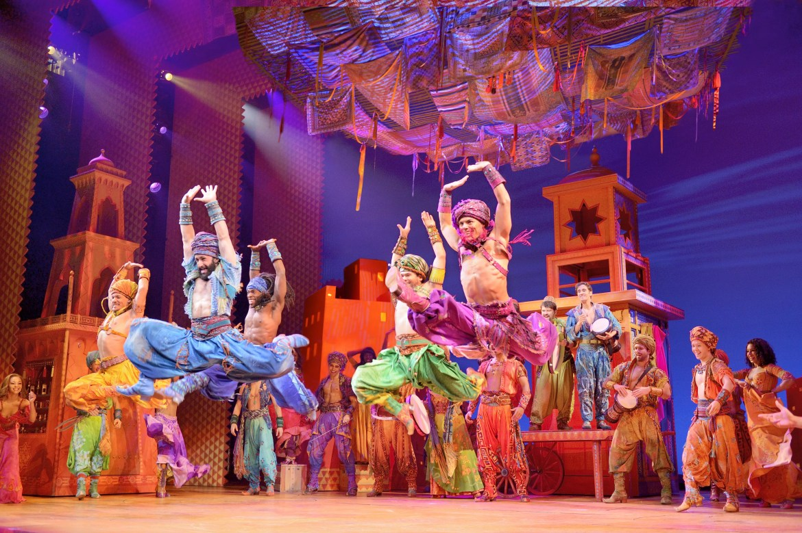 A moment from Disney on Broadway's production, Aladdin.