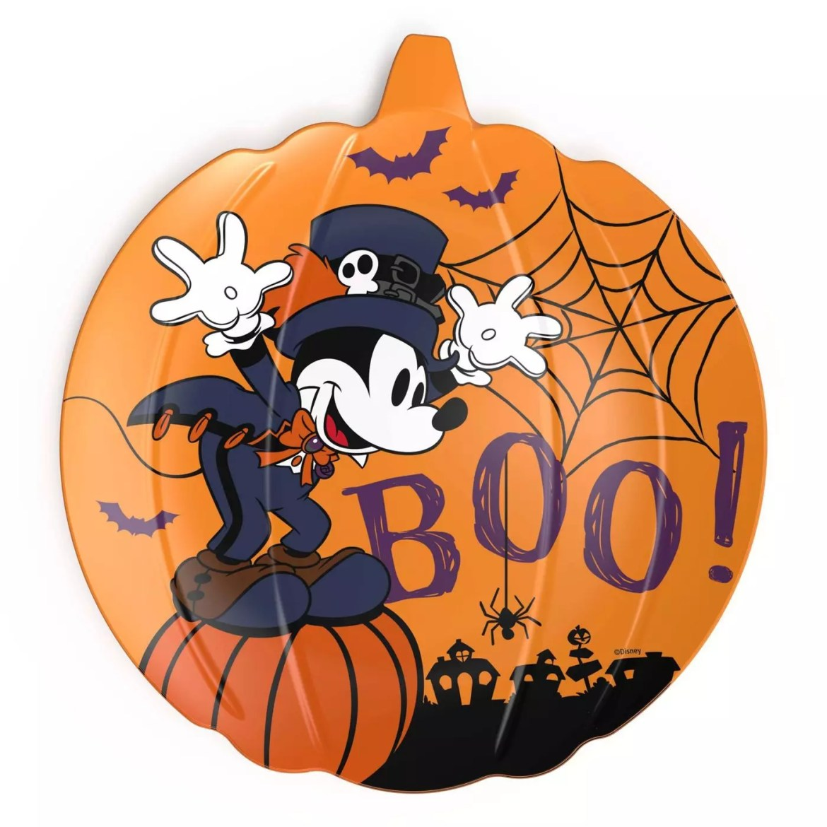"This 8"" Halloween Mickey plate set is getting ready to hit the shelves at the low price of $3.00"