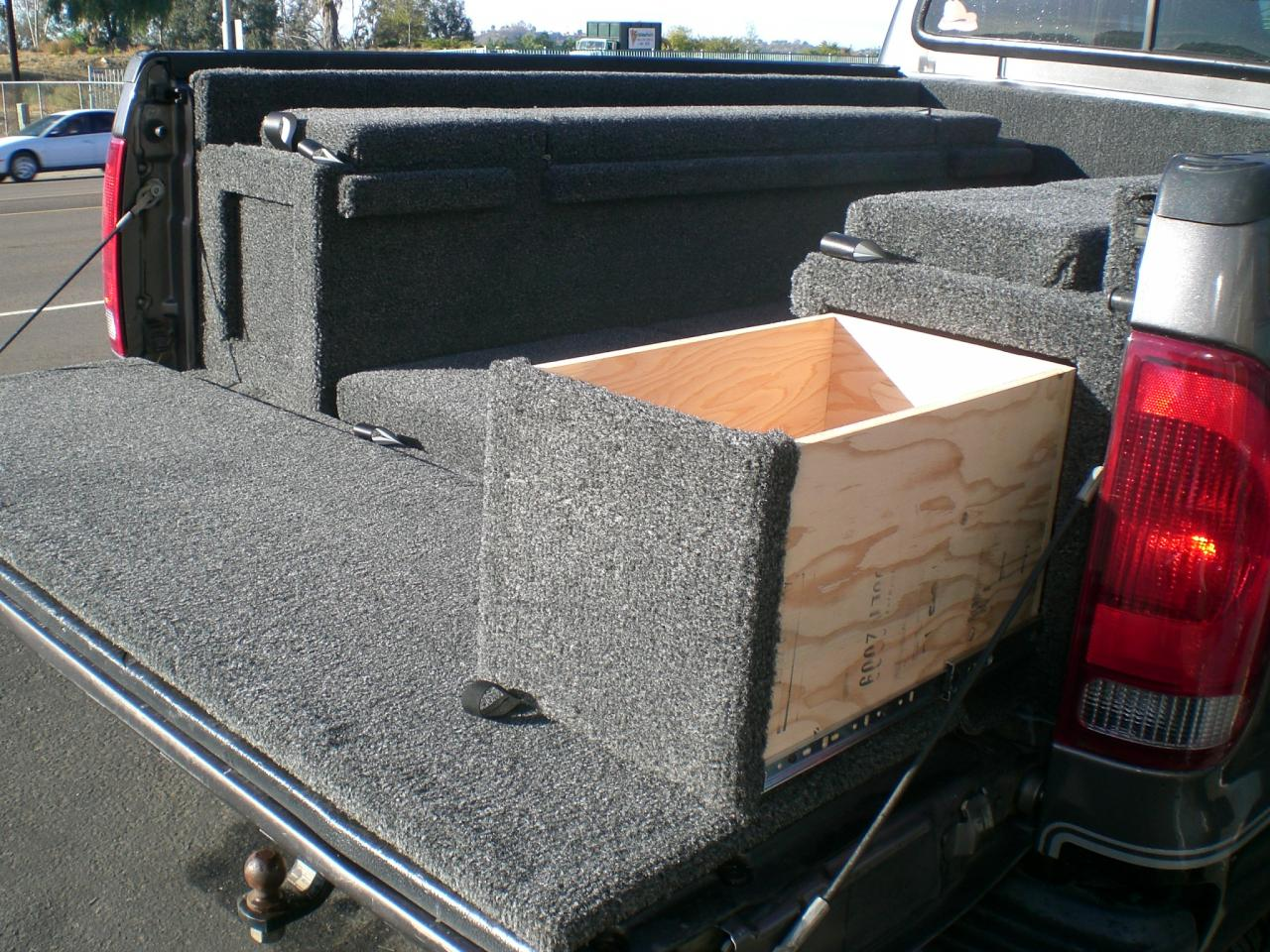 Truck carpet kits bed