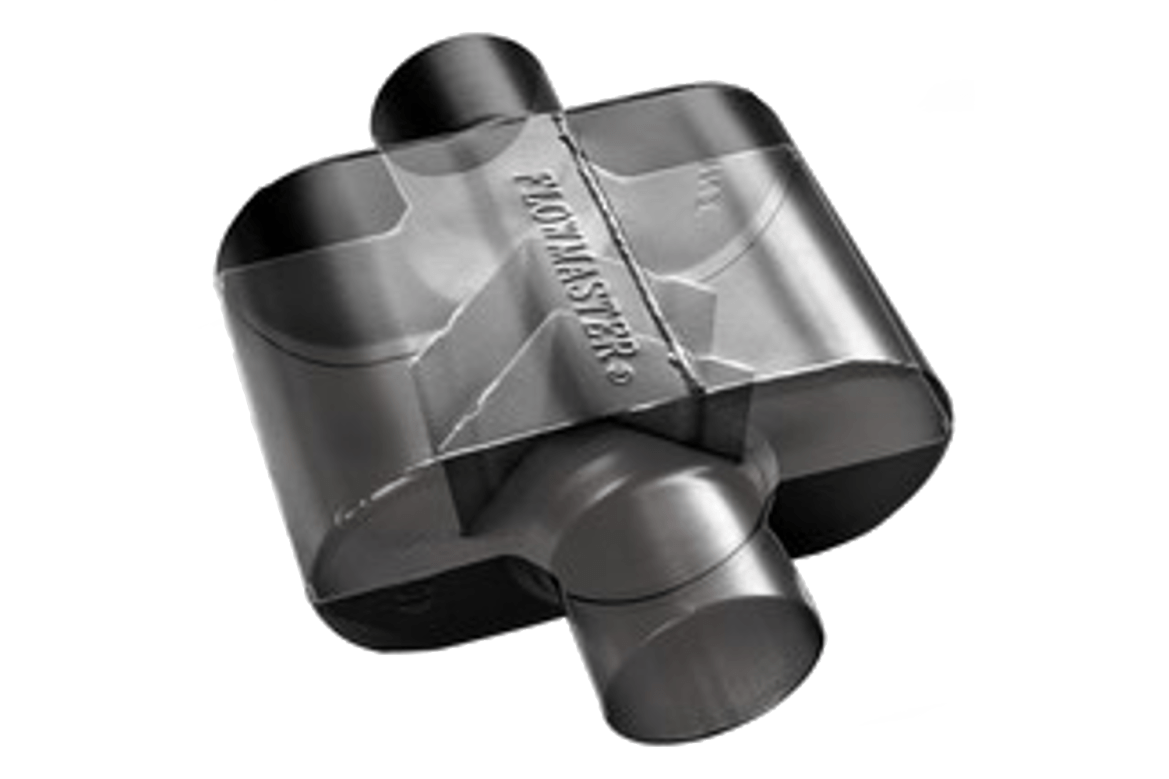 Flowmaster Super 10 cutaway.