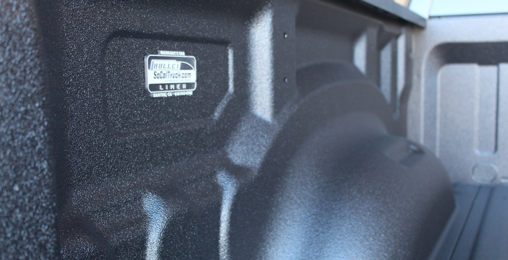 Another look at the 2019 Dodge Ram to show the quality of the Bullet Liner spray on bed liner.