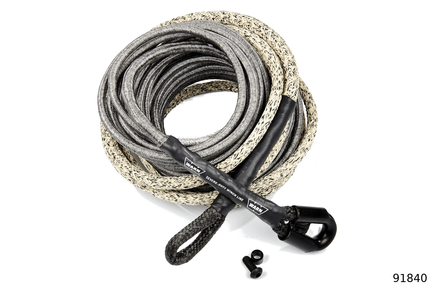 warn industrial rigging accessories spydura promax synthetic rope series 91840
