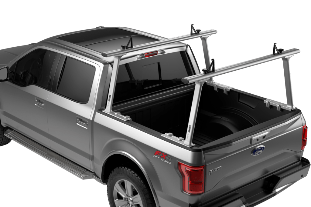 Thule TracRac TracOne rack in silver.