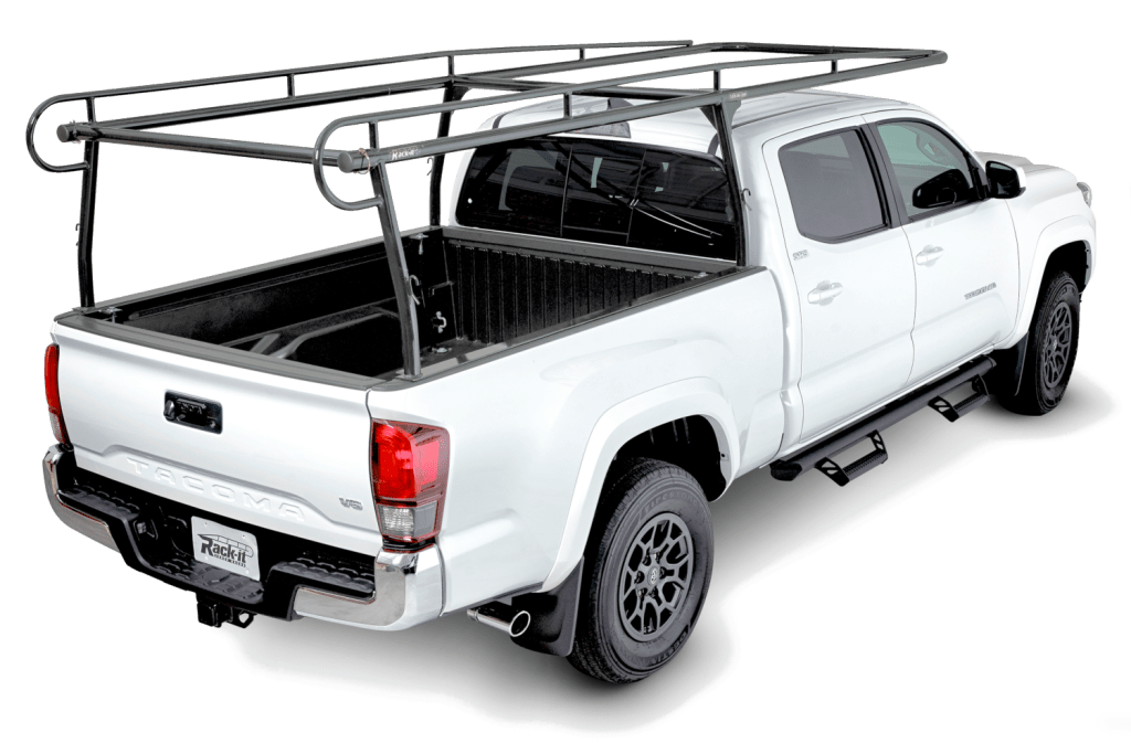 Product shot of the Rack It 1000 Series installed on a Toyota Tacoma.