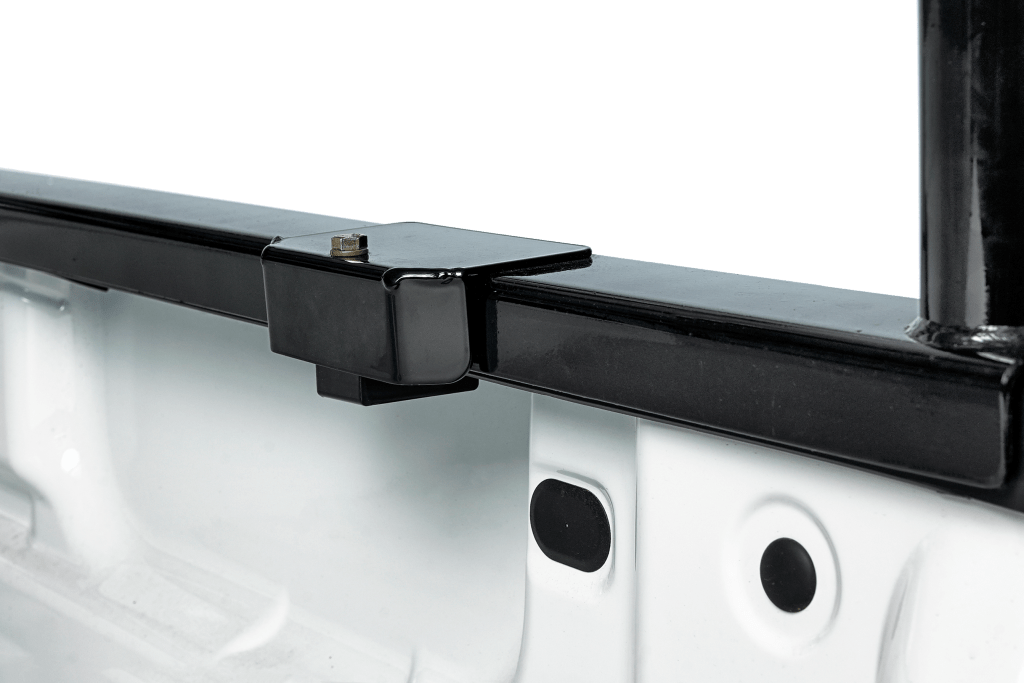 Here is the truck rack shown installed with the optional clamp system.