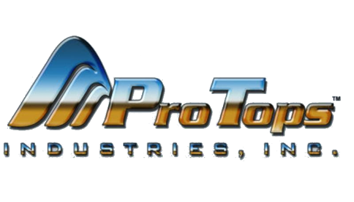 ProTops Industries makers of fiberglass camper shells company logo.