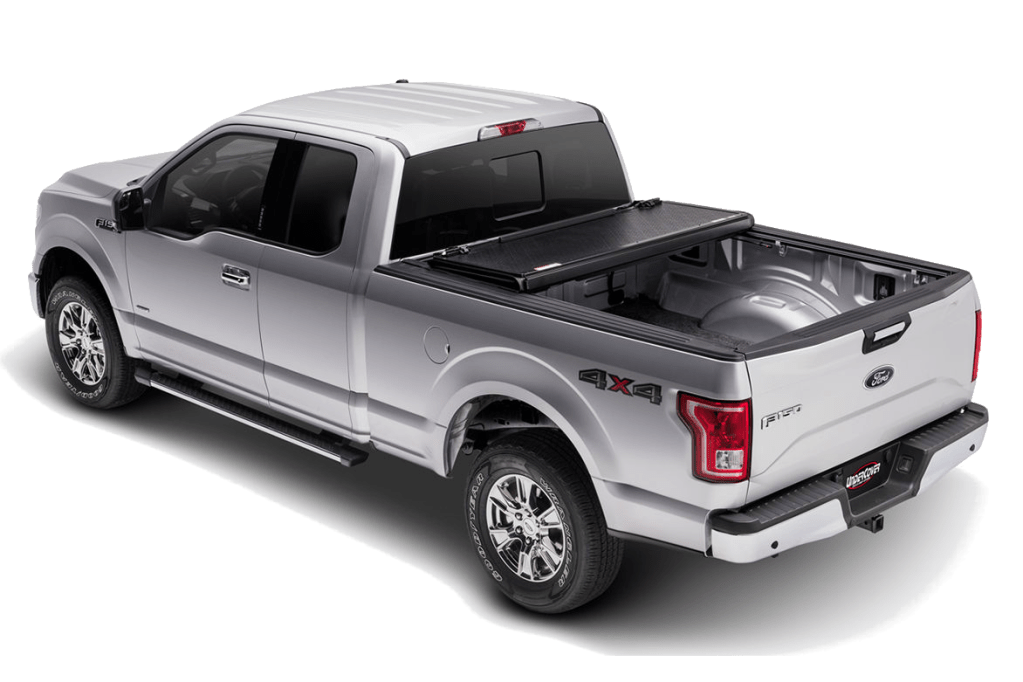 UnderCover Flex installed a Ford F150 with two panels closed.