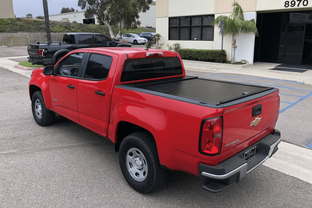 American roll cover shown installed on a Chevrolet Colorado.