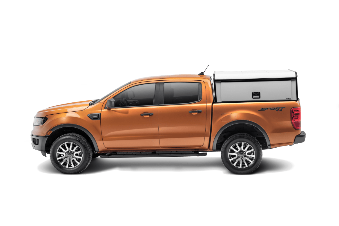 Profile shot of the ARE DCU Ford Ranger.