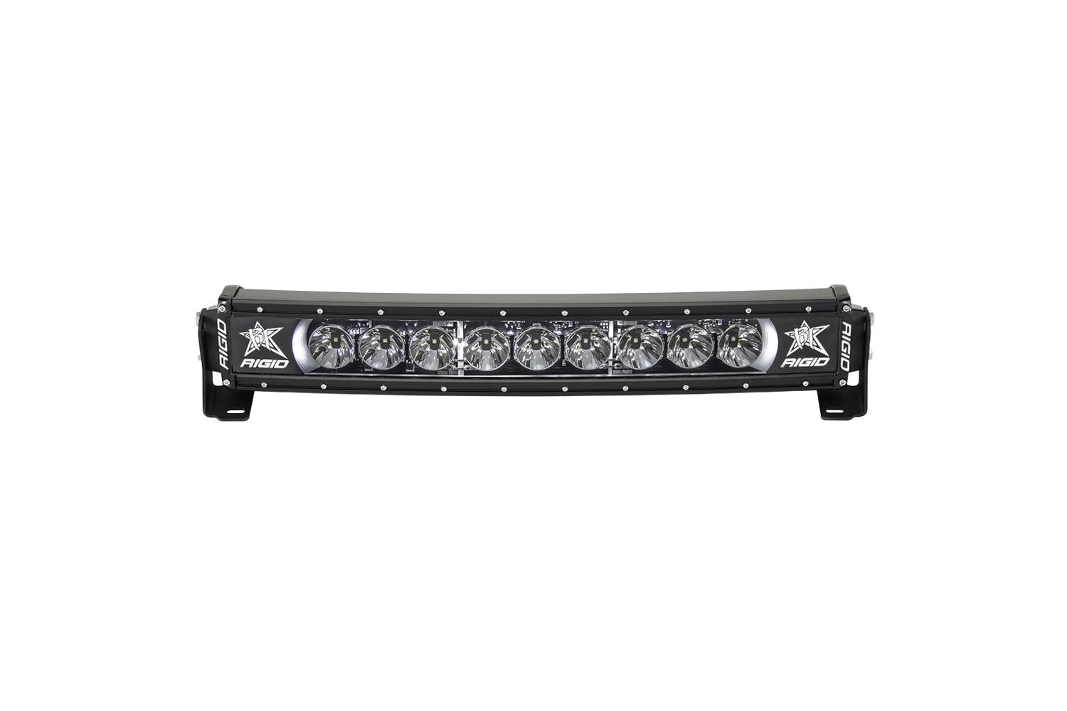 Rigid Industries Radiance light bar that accommodates the Jeep Gladiator.