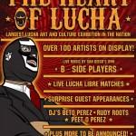 Heart of Lucha art show 10-19-13 flyer