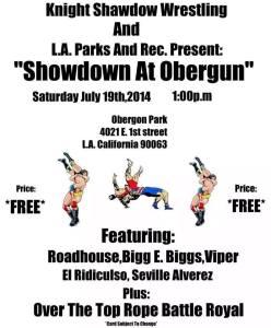 wrestling event 7-19-14 flyer