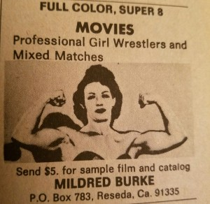 An advertisement for mixed matches on film.