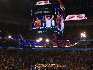 Nate Diaz after defeating Anthony Pettis in the co-main event of UFC 241 at the Honda Center in Anaheim, CA (August 17th, 2019(