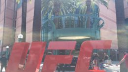 The UFC logo outside of the Honda Center prior to UFC 241 (Anaheim, CA - August 17th, 2019)