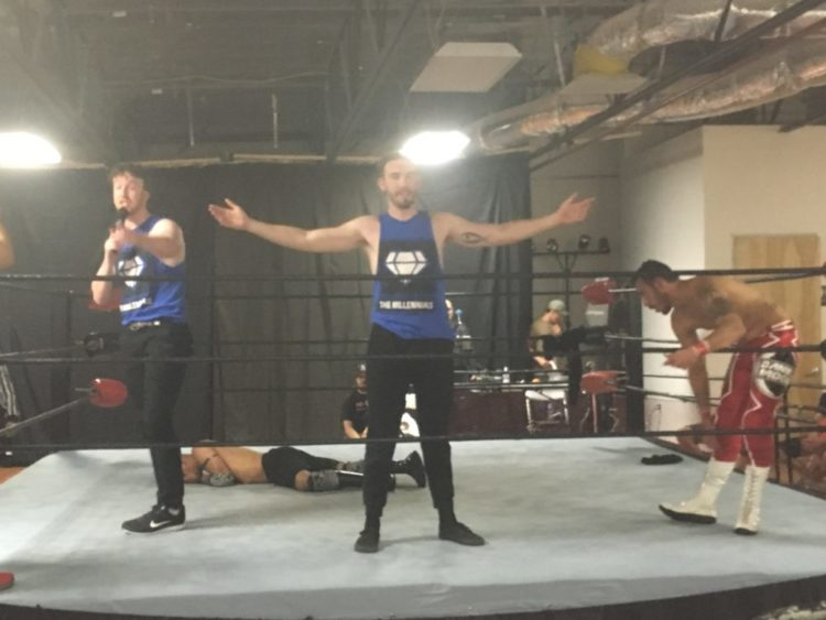The Millennials (Brendan Divine, Danny Divine, and Daniel Moon) at MPW's 9/13/19 event in Chatsworth, CA.