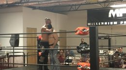 Ray Rosas says goodbye to Tyler Bateman at MPW in Chatsworth, CA on 10/15/19